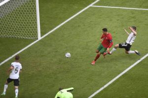 Portugal vs Alemanha. Golo Ronaldo  Foto Gestifute Media / Jorge Monteiro